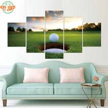 4 Piece/set or 5 Piece/set Canvas Art GOLF BALL IN THE HOLE HD Canvas Paintings Decoration For Home Wall Art Prints Canvas A868(China)