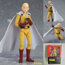 Boxed Anime One punch man PUNCH-MAN  Figma 310 Saitama Sensei PVC Action Figure Resin Collection Model Doll Toy Gifts Cosplay