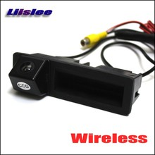 Liislee Wireless Rear Camera For Audi A6L A4 2011 / A3 S5 2012 2013/ Back Up Parking Camera / Trunk Handle / HD Night Vision(China)