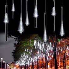 Waterproof 50cm 8 Tube Holiday Meteor Shower Rain LED String Lights For Indoor Outdoor Gardens Xmas Christimas Party Decor Tree(China)