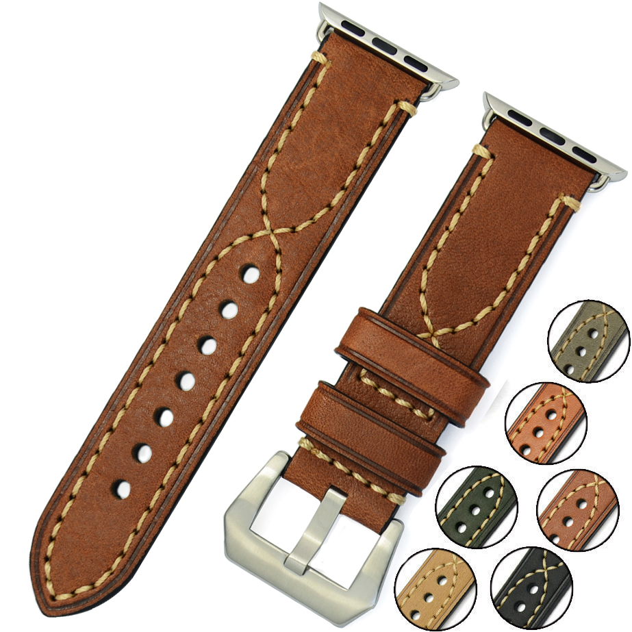 38mm 42mm for Apple strap leather strap watch accessories for Apple IWATC Men Women Digital Watch Watchband
