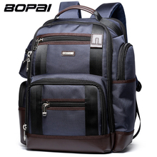 BOPAI Brand Multifunction Travel Backpack Bag Large Capacity Shoulders Bag Laptop Backpack Fashion Men Backpack Size 43*35*20cm(China)