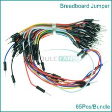 Free Shipping 65pcs Breadboard Jumper Cables For Arduino Jump Code Wire Kit Set