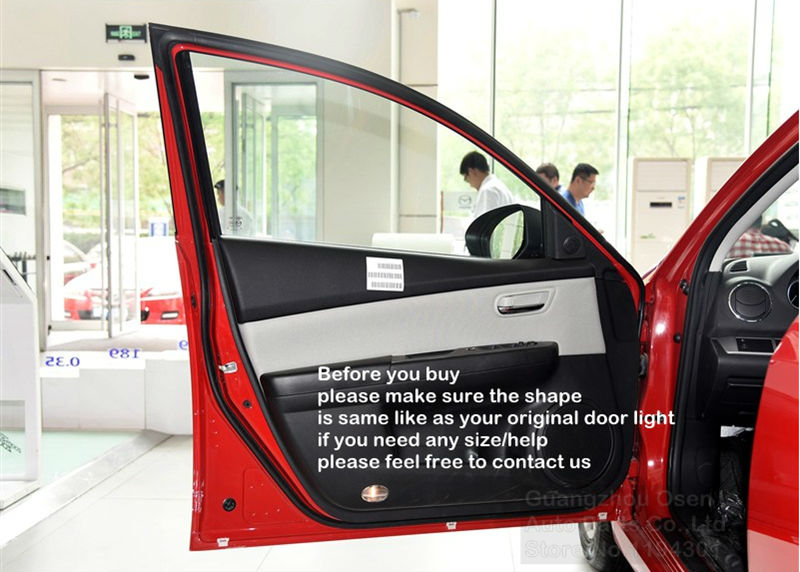Special LED car door projector logo laser shadow welcome Warning light for Mazda 8 Mazda 6 Mazda RX8 6