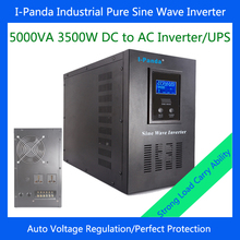 Intelligent Controller LCD Display 5000VA 3500W DC 24V/48V Sine Wave Inverter With Battery Charge and UPS Contimuously(China)