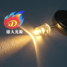 wholesale 100 pcs 5mm Round top Warm white Super bright light-emitting diode LED  High Quality