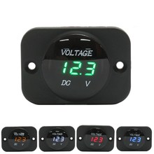 DC 12-24V Waterproof Car Boat Motorcycle LED Voltmeter Digital Display Volt Voltage Meter Gauge Durable Quality(China)
