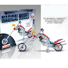 DIY Scale Mode Metal Model Building Kits Puzzle Harley-Davidson Motorcycles Enlighten Assemblage Toys metal building model kits(China)