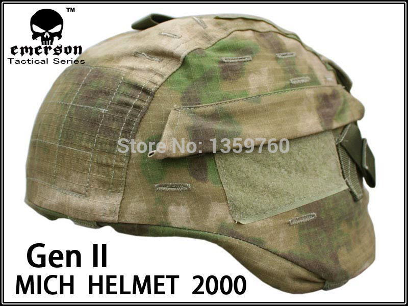 Emerson Tactical Airsoft Military MICH 2000 Ver2 Helmet Cover W// Back Pouch MR