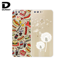 TPU Soft Case For Huawei Honor 8 Transparent Silicone Colored Drawing Phone Cases Cover For Huawei Honor 8 Silicon Cases