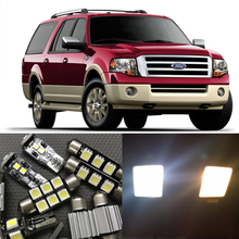 15x Super Bright Xenon White LED Interior Package Kit For 2003-2015 Ford Expedition Led Glove Box Door/Step License Plate Light(China)