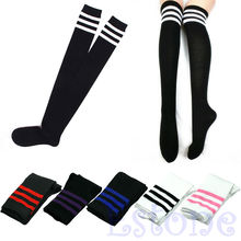 Women Sexy Stripe Cotton Over Knee Socks Thigh High Stockings Long Socks(China)
