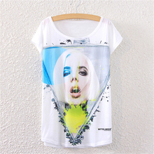 2017 new perfume bottle girl Printed Harajuku woman t shirt short sleeve T-shirt Women Top Fashion Tee loose Women's Clothing