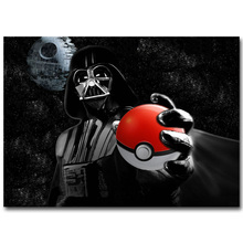 Darth Vader - Pokemon Funny Art Silk Fabric Poster Print 13x20 inch Pocket Monster Anime Picture for Living Room Wall Decor 19(China)