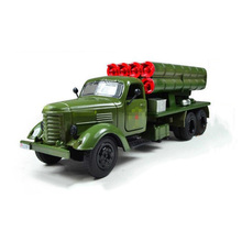 toys for Children 1:36 scale diecast Car Mode Jiefang Military Truck Missile Rocket Carrier Car Model light sound brinquedos