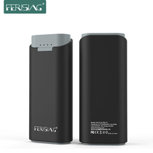 FERISING 5200mah 18650 Pack Battery Portable Powerbank Mini Power Bank External (Can Choose Type-C Micro USB Cable for iphone)