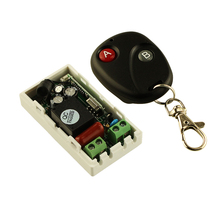 AC 220 V 1CH Wireless Remote Control Switch System Wireless Light Receiver Transmitter 2 Buttons A B Remote 315mhz 433.92mhz(China)