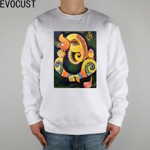 ganesha art - Google Search men Sweatshirts Thick Combed Cotton(China)