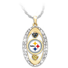 Pittsburgh Steelers Pride oval Pendant Necklace drop shipping  Football team logo sports jewelry best christmas gift