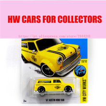 2016 Hot Sale Hot Wheels 1:64 Yellow 67 Austin Mini Van Car Models Metal Diecast Cars Collection Toys Vehicle For Children