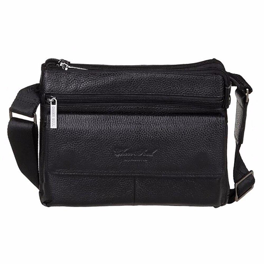 Genuine Leather Cowhide Men Business Satchel Fashion Casual Cross Body Bags Designer Brand Male Messenger Single Shoulder Bag<br><br>Aliexpress