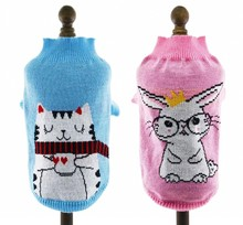Autumn Winter Pet Dog Sweater Cartoon  Knit Clothes Pet Cat Jumper Coat  for Small dog cat Size XS S M L XL