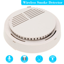 High Sensitive LED Photoelectric Smoke Detector Home Security System Cordless Wireless Detector Fire Alarm Sensor
