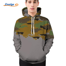 Covrlge 2018 Spring Men Camouflage Hooded Sweatshirt Fashion 3d Print Mens Hoodies Camo Hoodie Men's Sportswear Tracksuit MWW118(China)