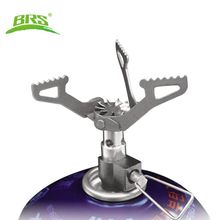 OUTDOORS Titanium Alloy Ultralight Camping Gas Stove Outdoor Gas Burner Cooking Stove Portable Folding Titanium Stove 25g