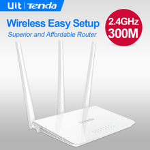 Tenda F3 300Mbps Wireless WiFi Router, Multi Language Firmware, 1*WAN+3*LAN Ports, Perfect to Small & Medium House,Easy Setup(China)