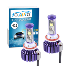 TOAUTO super bright led car hid headlight kit h8 h11 30w cree chip Bulbs 3 Color 4800LM  Auto Head Lamp Conversion Kit