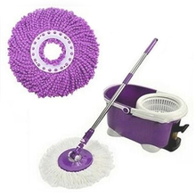 Durable 360 Rotating Head Easy Magic Microfiber Spinning Floor Cloth Mop Head(China)