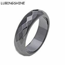 LUBINGSHINE 2017 New Arrival Finger Rings For Women Men 10PCS/Lot Faceted Surface Hematite Party Ring anel bague masculino(China)