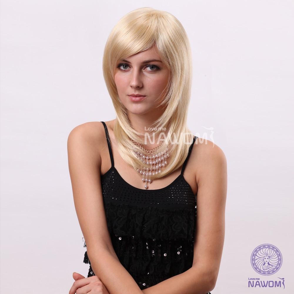 2014 New Hot Wig European Women Wig Medium Long Blonde Wigs Fashion Hair Style Maker Free Shipping<br><br>Aliexpress