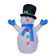 2017Fashion New  Hot Sale Inflatable Christmas Doll Decoration Cute Lovely Christmas Snowman Decoration for Home and Garden