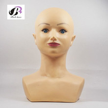 Free shipping Realistic Female Plastic Mannequin Head Bust For Wig And Hat Diomand Display(China)