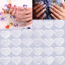 hot  Heart Shape Nail Art Printing Plate Image Stamping Plates Manicure Template create beautiful nail designs Popular