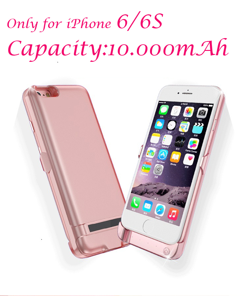 Recommend charger case 10000mAh for iPhone 6 6S Portable Ultra Thin Backshell wireless charge case External