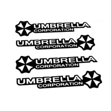 10*2CM UMBRELLA CORPORATION Umbrella Umbrella Doorknob Tiger Cartoon Zombie Control Car Sticker Decal Stickers Alphabet CT-459(China)