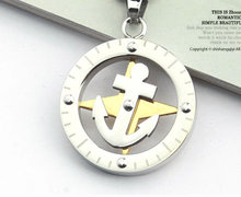 wholesale sea anchor lovers necklaces 316L Stainless Steel titanium necklace jewelry