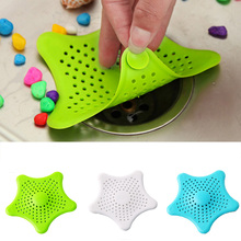 Best sale kitchen silicone five-pointed star sink filter bathroom sucker floor drains shower hair sewer filter colanders strain(China)