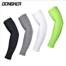 DONGKER Cycling Sleeves Arm Warmer 1 Pair Sunscreen Bicycle Sleeve Quick Dry Arm Stockings UV Protection Ridding Golf long cuff(China)