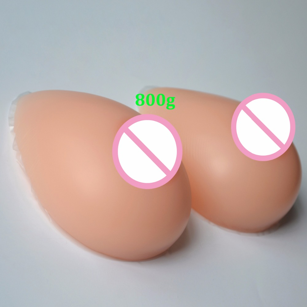 1pair Artificial Silicone Breast Form Chest Enhance Prosthesis Safety Medical Material Natural Realistic 800/1000/1200/1400g
