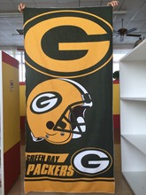 Hot Sale Customized 100% Green Bay Packers Football Sports Beach Towel 30inches x 60inches Sports Towel Wholesale