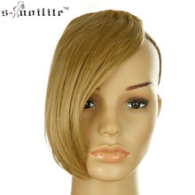 Buy SNOILITE 9inch middle part bangs fake bangs hair pieces blonde brown black clip hair extensions bangs fringe women for $3.78 in AliExpress store