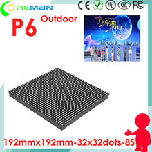 ali hd vehicle led advertising sign module p6 / led video advertising screen module smd outdoor p6 192mmx192mm dot matrix 8x8(China)