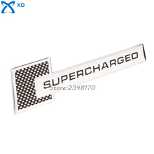 Aluminium Alloy Sticker 109x27mm Auto Badge For Supercharged Grid Logo Decal Emblem Car Sticker For Peugeot Dodge Citroen Suzuki