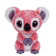 6'' 15cm Beanie Boos Kacey The Pink Koala Plush Stuffed Collectible Big Eyes Doll Toy S45