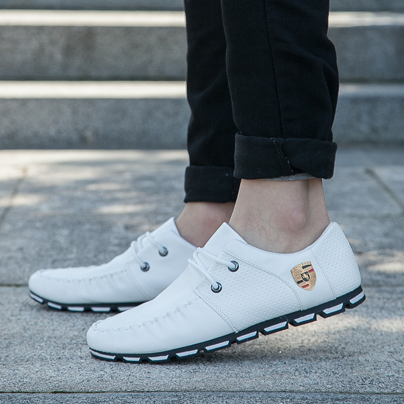 2017 New Brand Fashion Summer Soft Moccasins Men Loafers High Quality Genuine Leather Shoes Men Flats Gommino Driving Shoe6
