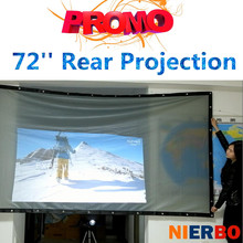 NIERBO 72 Inch HD Rear Projector Screen 4:3 Highlighted 16:9 Wall Mounted Curtain For LCD DLP LED Projector Home Theatre